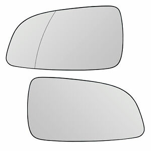 Mirror Glass Left +Right, El. Heated Suitable For Opel Astra H