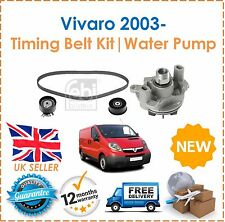 For Vauxhall Vivaro 2.5 DTi CDTi 2003- Timing Cam Belt Kit & Water Pump New