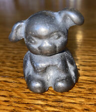 Antique Cast Iron Hubley Paperweight Fido Puppy Dog With Initials U B
