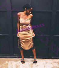 Zara Khaki Lacy Dress Cami New XS Extra Small 6