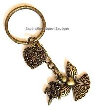Gold Keychain Nursing Nurse Gift Caduceus RN Angel Heart Purse Tag RN Caduceus
