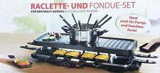 Raclette / Fondue-Set Fonduegabeln Edelstahlkochtopf Raclettepfännchen Neu
