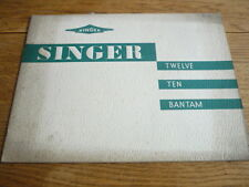 SINGER 12, 14, BANTAM CAR BROCHURE 1938