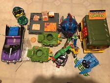 TMNT Vintage Teenage Mutant Ninja Turtles Lot of Cars And Misc. (Playmates)
