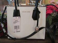 de09619ebd674 New Michael Kors LT Optic White Leather Studio Mercer MD Messenger Purse   248