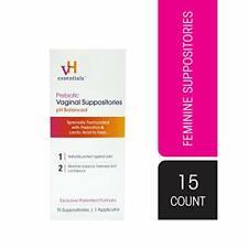vH Essentials Prebiotic Vaginal Suppositories, pH Balanced for Feminine Hygiene