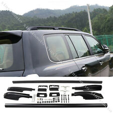 Black Aluminium Roof Rack Luggage Carrier For Toyota Land Cruiser LC200 2008-19