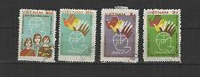 conférence pour la paix à Prague 1984 Viêt Nam une série de 4 timbres / T1689