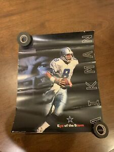 """VINTAGE 1997 """"EYE OF THE STORM"""" Dallas Cowboys Troy Aikman Wall Poster 16"""" X 20"""""""