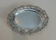 "NICE GERMAN 800 SILVER ART NOUVEAU CHASED & PIERCED 12.5"" OVAL TRAY"