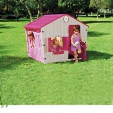 Pink Outdoor Girls Child Plastic Garden Playhouse Kids Chad Valley Wendy House