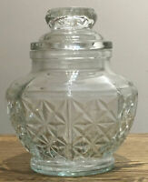Vintage Cut Glass Lidded Jar. BonBon Jar. Storage Jar. 15 Cm