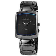 Rechteckige Excellanc Armbanduhren mit 12-Stunden-Zifferblatt für Herren