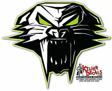 "(ARCT-2) 6"" ARCTIC CAT SKULL SNOWMOBILE DECAL STICKER"
