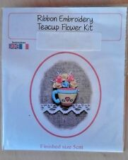 Ribbon Embroidery Kit - Teacup Flower Kit