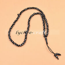 Muslim Islamic Tasbih 99 Beads Rosary Carved Allah Necklace Bracelet Prayer