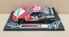 NASCAR Todd & Brett Bodine AUTOGRAPHED #35 1:43 Scale Diecast Car Stand Signed