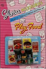 Gloria Accessories Barbie Size Dollhouse Furniture Fridge Food Play Set