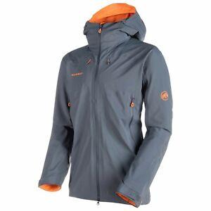 Mammut Eiger Extreme Ultimate Eisfeld SO Hooded Jacket Men Größe M storm