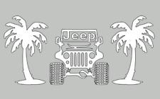 Jeep Life Palm Tree Decal  Sticker Car Window Truck Laptop Vinyl Decal,Sticker