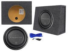 "Soundstream STEALTH-124 12"" 700 Watt Shallow Slim Subwoofer + Sealed Sub Box"