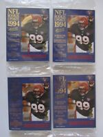 Lot Of 4 1994 ACTION PACKED ROOKIE UPDATE FOOTBALL Cards 24KT Gold SEALED PACKS