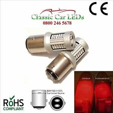 2x BAY15D RED BRAKE STOP/TAIL LED BULB GLB380 P21/5W CAMPER CARAVAN MOTORHOME RV