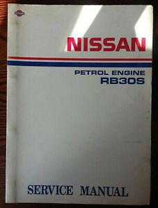 Nissan Patrol Y60 RB30s 3L Petrol Engine Factory Workshop Service Manual 3.0L