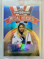 2018 Leaf Metal Sports Heroes Chloe Kim Autograph Auto Blue Refractor #4/15