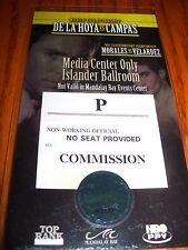 De La Hoya vs. Campas World Championship Media Center  Pass, May 3, 2003