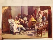 Antique Lithograph Postcard Native Coffee House Egypt