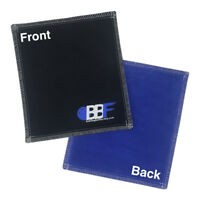 New Bowlingballfactory.com Leather Black/Royal Bowling Ball Shammy Pad Towel