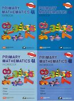 Singapore Primary Math Grade 4 Kit (US ED)-Workbook/Textbook 4A+4B-FREE SHIPPING