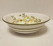 Nora Fenton Pottery large Italian pasta Bowl w/ flowers #6/67 Vintage made Italy