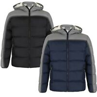 MEN WINTER JACKET QUILTED HOODED PADDED WARM COAT PUFFER JACKET S,M,L,XL,2XL'