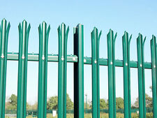 1.8m (6ft) High Galv.& PPC GREEN Industrial Security Steel Palisade Fencing
