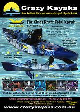 Pedal Kayak New - Kings Kraft - Fishing - Sports - Forwards Reverse Intro $1799
