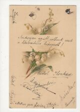 Vintage Chromo Litho Greetings Postcard Hungary 1899 439a