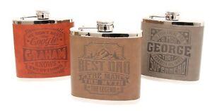 History & Heraldry Top Bloke - Hip Flask - Pre-Personalised Names - Men's Gifts
