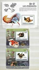 KOMOREN ( COMORES ) - LOT OF 10  SHEETS - Fishes  - 3 IMAGES