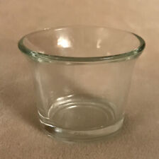 Vintage Anchor Hocking Crystal Clear Glass Votive Candle Holder Flared Top