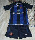 Sunderland football kit shorts shirt Away child boy MB 9/10 yr 2008 - 2009 Umbro