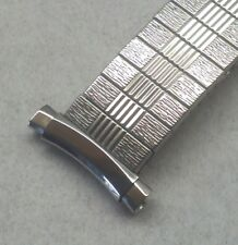 Vintage NOS Bulova 16-20mm Adj Curved Ends All Stainless Expansion Watch Band