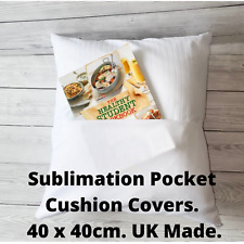More details for sublimation pocket cushion cover blanks 40 x 40cm. uk made. free p&p