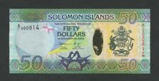 SOLOMON ISLANDS - $50  2013  A/1 000814  Krause.35  Uncirculated  - Banknotes