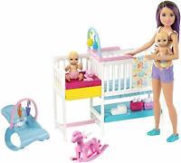 Barbie Skipper Hora de la Siesta Muñeca Barbie Canguro con bebés y Accesorios