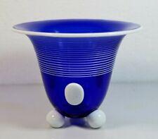 Lötz, Ausführung 166, M. Powolny Art-Deco blau-weiße Vase Loetz – 18007 –