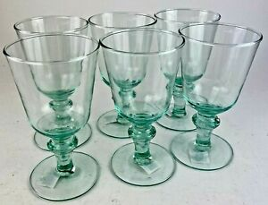 Tulip Wine Goblet Stemmed Glass 300ml Recycled Glass - Set of 6