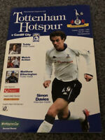 TOTTENHAM HOTSPUR V CARDIFF CITY PROGRAMME 01/10/02 LEAGUE CUP 2ND ROUND
