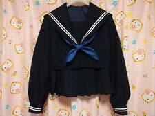 ^_^ Japanese SchoolGirl Uniform Winter ! Perfect Condition. Free Scarf ! EB09